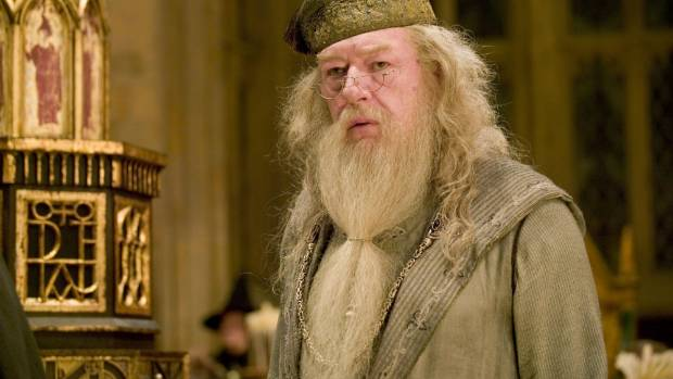 """Dumbledore (Gambon) was the """"moral heart"""" of the books, Rowling said."""