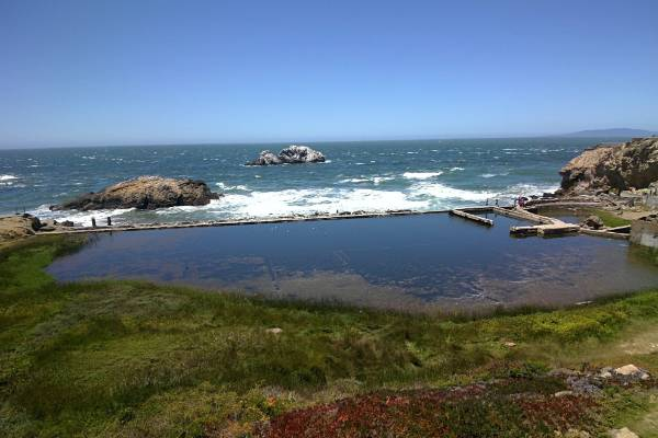 Lands End in San Francisco in Golden Gate National Recreation Area. Image was taken with Google Glass.