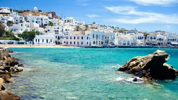 GREEK ISLES: Mykonos is a busy place: long lines, picture-taking galore and overpriced trinkets bulging from store shelves.