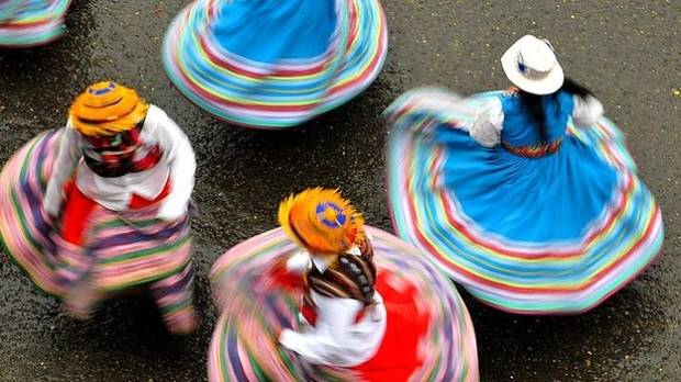 Colour on display: Dancers in Bolivia