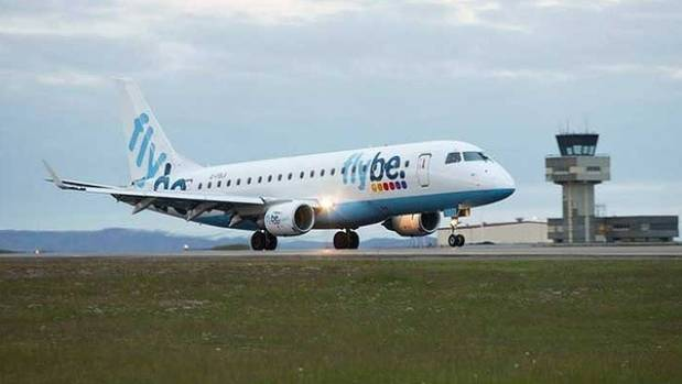 NIGHTMARE TRAVELS: A Flybe plane takes off from Birmingham Airport.