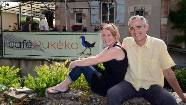 David and Rosie O'Donoghue, outside Cafe Pukeko.