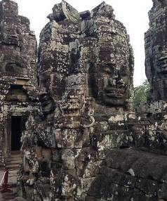Boredom-free zone: The giant faces of the Bayon Temple.