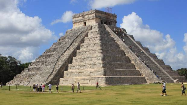 ANCIENT RUINS: The Temple of Kulkulkan in Chichen Itza.