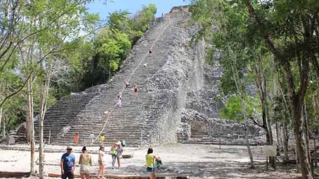 The Coba Pyramid.
