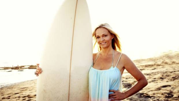 LIVING THE DREAM: Surfing is both work and leisure for Janine Hall.