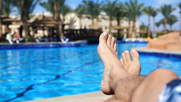 "Those ""obligatory"" feet-by-pool shots."