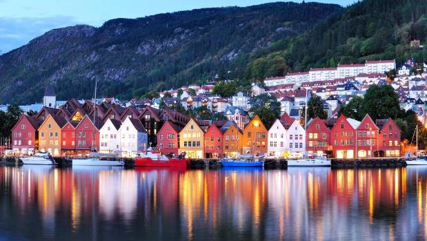Norway is officially the world's happiest country for 2017. The picture shows Bergen - the country's second-largest city.