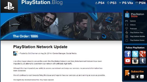 UNDER ATTACK: Sony has been keeping gamers up to date on the Playstation blog.