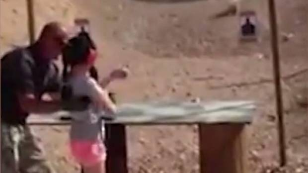 FATAL ACCIDENT: A US shooting instructor has died after being shot in the head by a 9-year-old girl.