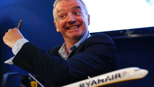 BUDGET BUSINESS CLASS? Ryanair is offering business-class tickets in an attempt to woo companies and governments during ...