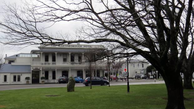 VILLAGE ICON: A view of Martinborough's historic hotel.