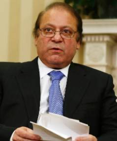 UNDER FIRE: Pakistani Prime Minister Nawaz Sharif.