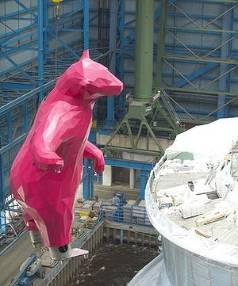 PINK POLAR BEAR: 'From Afar' measures 9.1 metres.