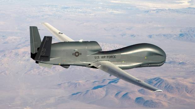 DRONE: A US Air Force RQ-4 Global Hawk drone.