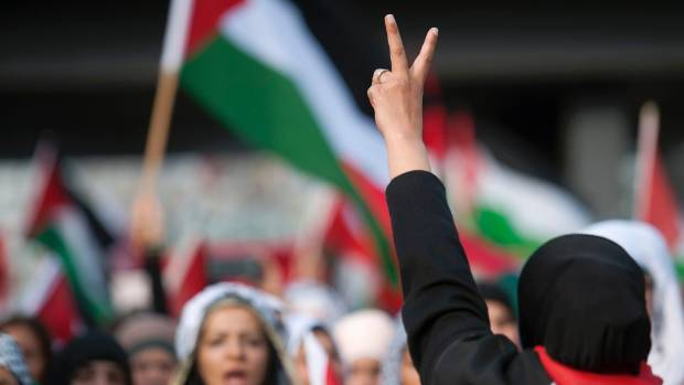 PEACE: Continued conflict in the West Bank has drawn protest worldwide, here in Germany.