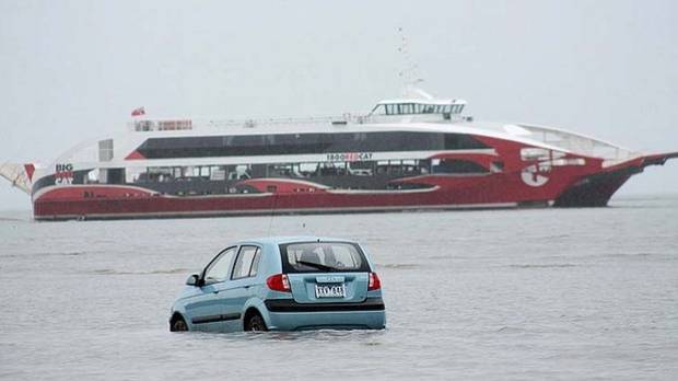 ANOTHER GPS FAIL: In 2012, 3 Japanese tourists were fooled by a low tide and their GPS into believing they could drive ...