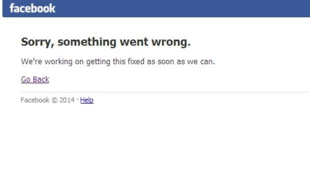 EMPTY FEELING: What Facebook looks like at the moment.