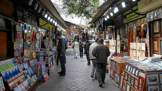 The Old book Bazaar in Instanbul.