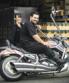 Panhead owners Mike and Anna Neilson at their Upper Hutt brewery. Their Supercharger APA was crowned best beer in the ...