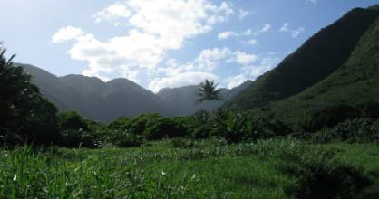 Halawa Valley in Eastern Molokai.
