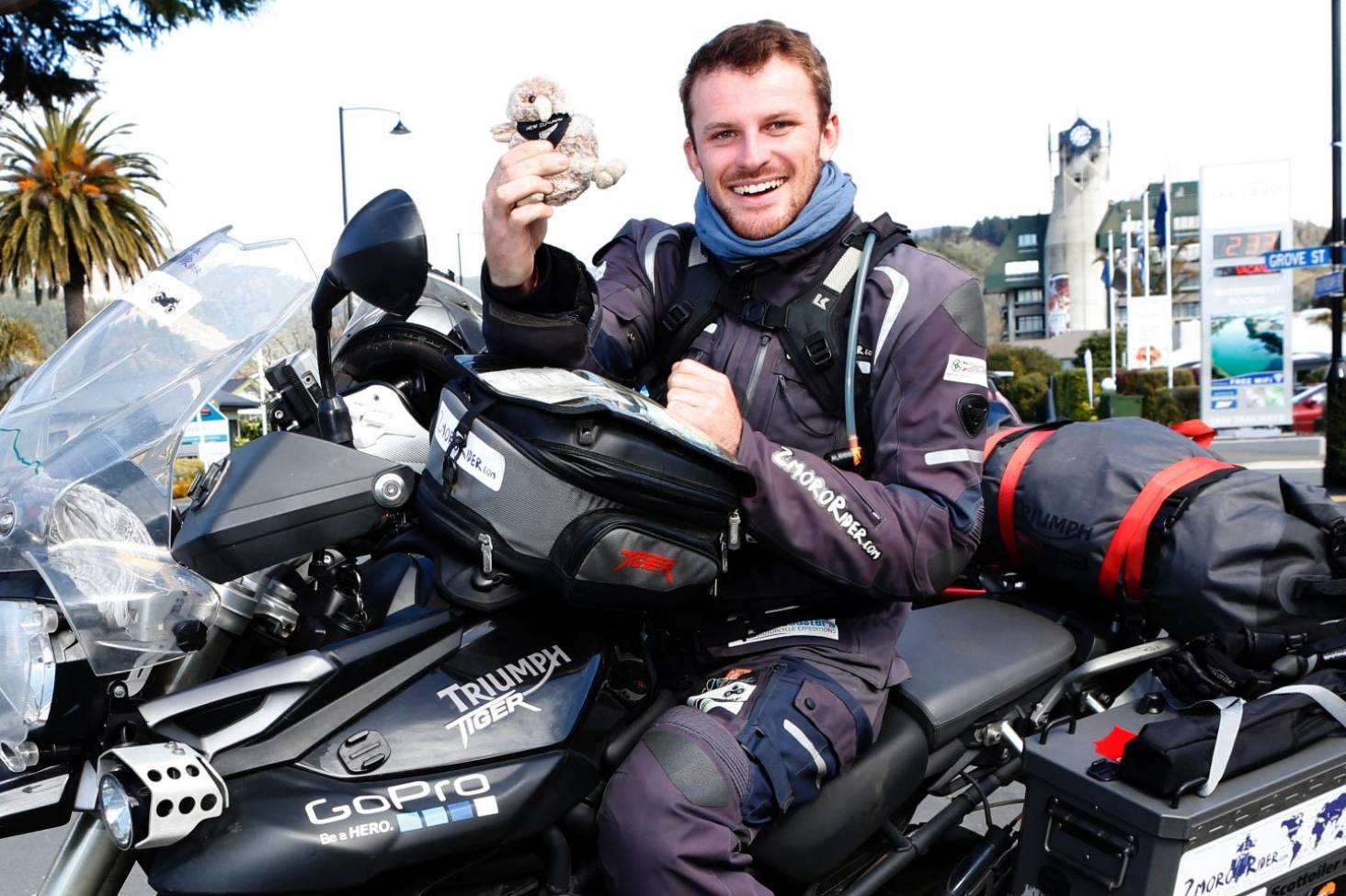 Round-the-world biker on ride of his life | Stuff co nz