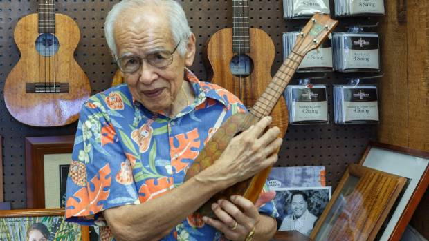 PATRIARCH: At 90, Fred Kamaka remains a lively ambassador for the ukulele factory which bears his family name.