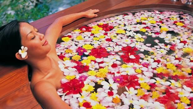 A Maya Ubud flower bath.