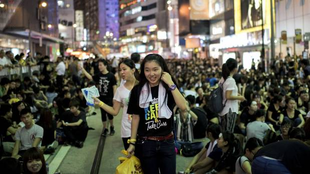 DEMONSTRATION: Pro-democracy protesters occupy central Hong Kong.