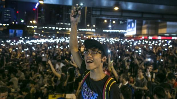 A demonstrator in Hong Kong.