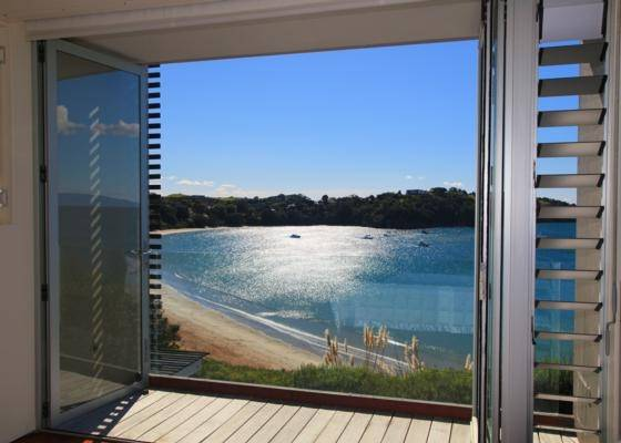 STUNNING: Overlooking Oneroa Beach and the bay, the view from here is beautiful.