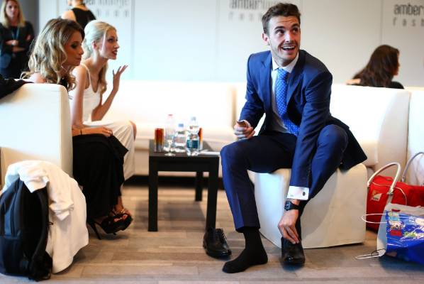 Jules Bianchi attends the Amber Lounge Fashion Show ahead of the 2014 Monaco Grand Prix.
