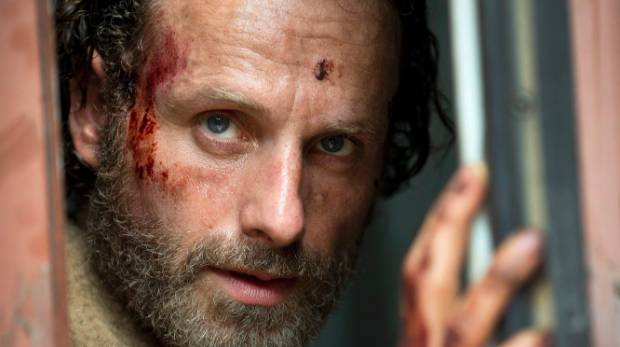 Andrew Lincoln plays sheriff's deputy Rick Grimes in the zombie drama The Walking Dead.