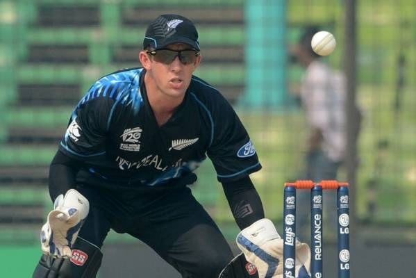 Playing for keeps: Luke Ronchi has found his feet in New Zealand.