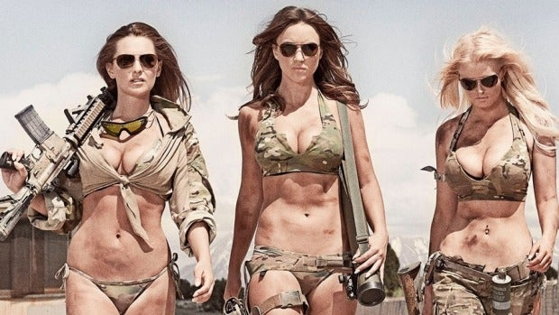 Bikini with guns