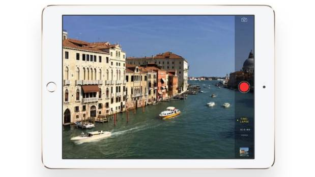 The iPad Air 2 features Apple's new iSight camera.