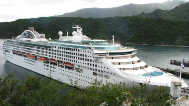DAWN PRINCESS: For the first time the Princess Cruises ship is playing host to 18 Christchurch Polytechnic students ...