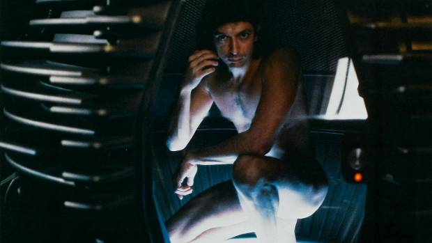 HORROR DELIGHTS: Jeff Goldblum in The Fly.