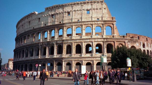 Tourist fined for defacing Rome's Colosseum