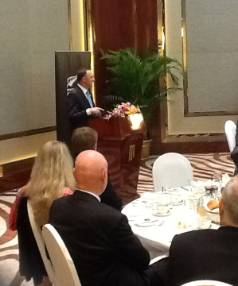 JOHN KEY: The prime minister speaking at the CEO breakfast at APEC in Beijing.