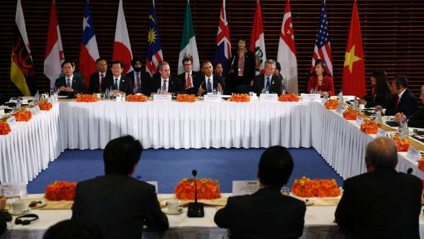 US President Barack Obama met members of the TPP on the sidelines of Apec.