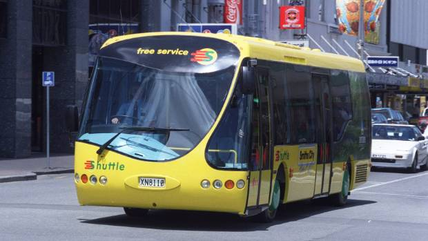 BRING THEM BACK: The distinctive yellow hybrid-electric shuttle buses that used to run in Christchurch could ease ...