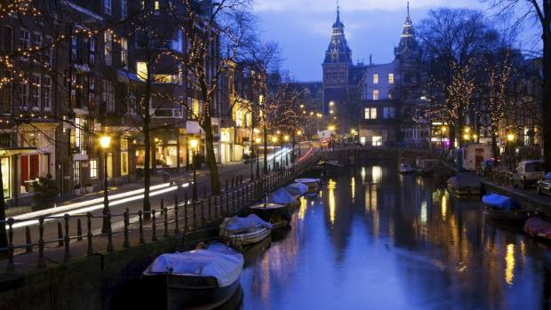 AMSTERDAM: In winter the city lights ups, creating a festive atmosphere.
