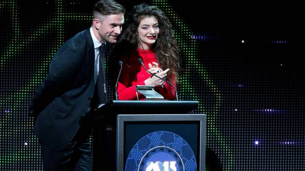 WINNERS: Joel Little at the 2013 Silver Scrolls with Lorde when the won the top award.