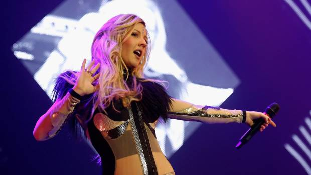 NEW ARTIST:  Ellie Goulding on stage in London.