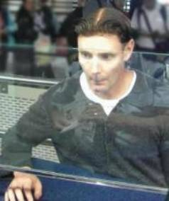 CAPTURED: Phillip John Smith, pictured as he was passing through Auckland Airport on his way out of the country.