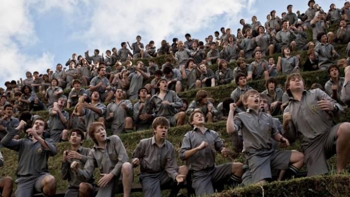 School's haka of hundreds a global hit | Stuff co nz