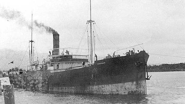 ILL-FATED TRIP: The SS Ventnor leaves Westport in 1902.