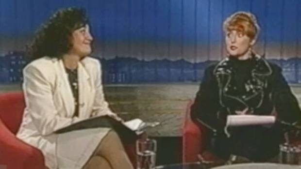 PIONEERS: Joanna Paul and Belinda Todd on Nightline, back in its risky early days.