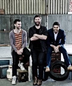 IN BUSINESS:  Ryan Hutchings, Jarrod Holt and Nigel McCulloch of local production company downlowconcept are celebrating ...